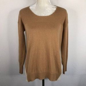 Central Park West Cashmere Sweater Sz S Tan Ivory